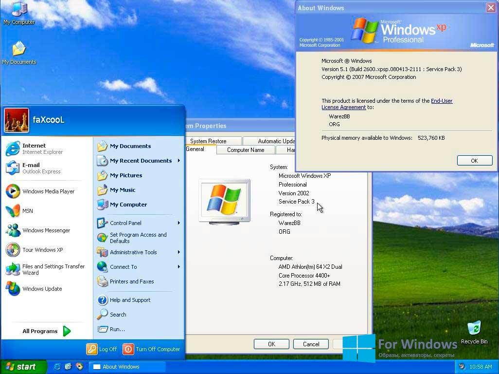 скачать образ windows xp professional sp3 rus с торрента